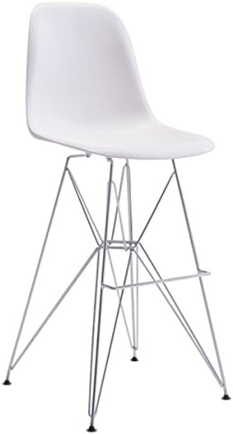 Zuo Zip Bar Chair, White