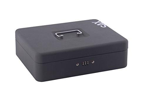 Sax 0-813-19 Geldkassette, B 30 x H 9 x T 24 cm, schwarz…