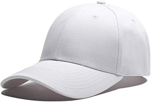 FUPALA Gorras de Béisbol para Hombre - Molienda Borde Haga Viejo Sombrero de Bordado/Casquillo de Béisbol con Visera para Unisex Adulto para Deportes al Aire Libre (Blanco)