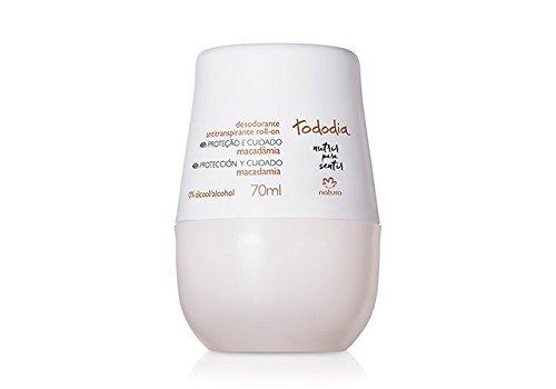 Linha Todo Dia (Macadamia) Natura - Desodorante Antitranspirante Feminino Roll-On 70 Ml - (Natura Every Day (Macadamia Nut) Collection - Roll-On Antiperspirant Deodorant For Women 2.36 Fl Oz)