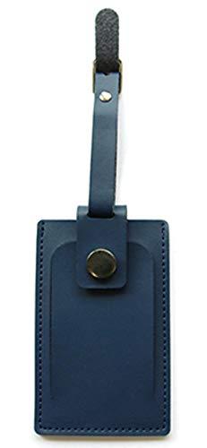 バンガード 旅行用品 ネームタグ スーツケースタグ おしゃれ 革 型押し フェイク レザー ネイビー