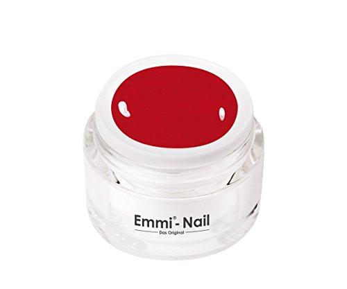 Emmi-Nail Farbgel V.I.P. red: UV-Gel für glänzendes Finish, hohe Deckkraft, rot, mittelviskos, Profi-Qualität, kein Verlaufen in die Nagelränder, 5 ml