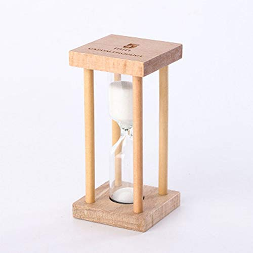 Celerhuak 1/3 / 5Min Holz Mini Größe Sand Sandglas Sanduhr Timer Uhr Küchenuhr Timer Home Office Desktop Dekoration...