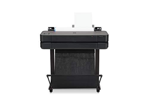 HP DesignJet T630 Stampante per Grandi Formati da 61 cm 5HB09A, Formati supportati da A4 ad A1, velocità 76 Pagine A1 all'Ora, Gigabit Ethernet, USB Hi-Speed 2.0, Wi-Fi, Garanzia 1 Anno, Nero