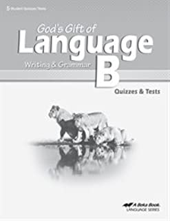 God's Gift of Language B: Writing and Grammar (quizzes and tests)