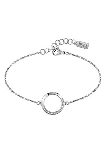 Hugo Boss Damen-Armband Ophelia Edelstahl Zirkonia One Size Silber 32012838