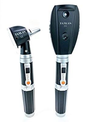 TAXXAN LED Fiber Optic Otoscope Set ENT Diagnostic Set with Adult, Child, Infant Specula Tips