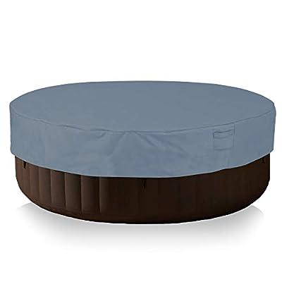 Yolaka Veranda Round Hot Tub Cover Cap with Air Vents 80Dia x 14H Waterproof