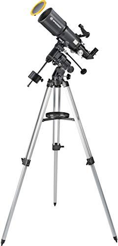 Bresser Teleskop Polaris 102/460 EQ3 für Nacht und Sonne mit hochwertigem Objektiv Sonnenfilter zur gefahrlosen Beobachtung der Sonne im Weisslicht
