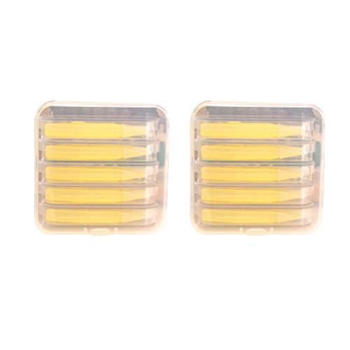HEALLILY 2 Boxen Tragbare Kontaktlinsen-Stick Werkzeugkoffer Set Inserter Entferner Pinzette mit Soft Tip Travel Lens Box Box Pinzette Set (Gelb)
