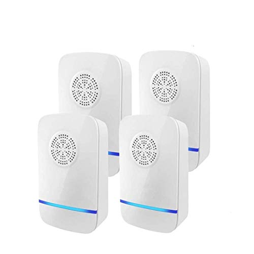 Bug Guard Store Ultrasonic Pest Repeller, Indoor Room Defender Plug in for Insects, Ant, Mosquito, Spider, Rodent, Roach, Mosquito, Ultrasonic Mouse Repellent, Sonic pest Control Devices (Pack of 4)