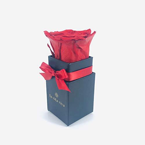 LA VITA VIVA Infinity Rosen Box, echte Rose rot, 3 Jahre haltbar, Rosenbox als Geschenk mit Geschenkbox zum Jahrestag für unvergessliche Momente
