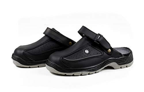 All Ride Sicherheitssandale mit Klettverschluss, grau/schwarz, lieferbar in den Schuhgrößen 42-46 (45)