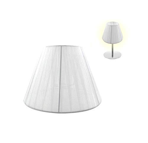 takestop Paralume Conico in Tessuto Bianco Diametro 20,5 CM COPRILAMPADA Copri LAMPADINE E14 E27 per LAMPADARI Sospensione Tavolo Lampada SCRIVANIA Comodino CASA (DIAM. 20,5 cm, Bianco)