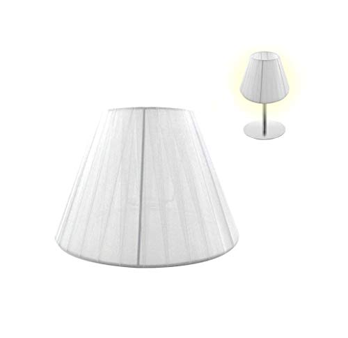 takestop® Paralume Conico in Tessuto Bianco Diametro 20,5 CM COPRILAMPADA Copri LAMPADINE E14 E27 per LAMPADARI Sospensione Tavolo Lampada SCRIVANIA Comodino CASA (DIAM. 25,5 cm, Bianco)