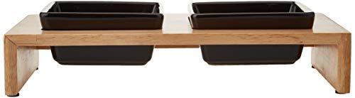 Trixie Napf-Set Keramik/Holz 2 x 0,2 l - 4
