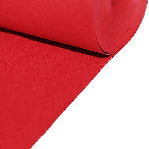 SYJH Alfombra para Boda Corredores de Bodas Desechables de 2 Mm de Grosor para El Pasillo Corredor de Alfombras de Poliéster para La Boda del Evento de Fiesta de Fiesta(Size:1×25m(3×82ft),Color:Rojo)