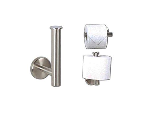Toilettenpapierhalter Reserve Edelstahl matt Badzubehör WC Papier Halter Klo