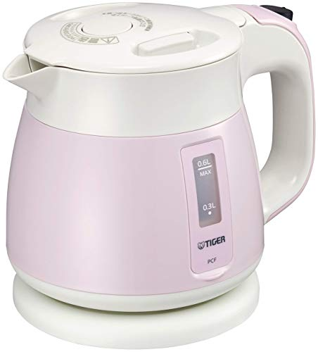 Tiger Thermos Electric Kettle 600ml Pink Wakuko PCF-G060-P Tiger