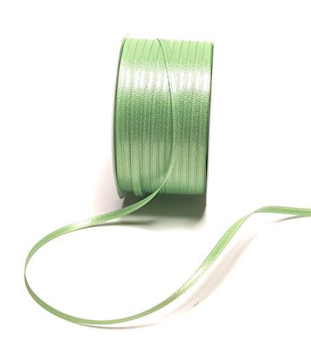 Konrad Arnold Satinband 50m x 3mm LINDGRÜN grün Dekoband Geschenkband Schleifenband