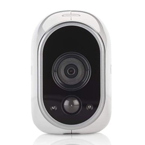 Arlo VMC3030, telecamera aggiuntiva ip wi-fi per sistema di videosorveglianza senza fili Arlo a batteria, HD, visione notturna, uso interno ed esterno IP65, funziona con Alexa, Google WiFi e IFTTT