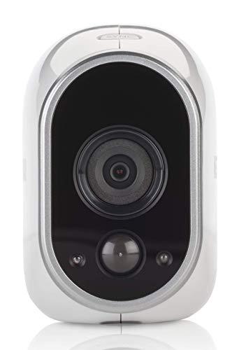 Arlo HD WLAN Überwachungskamera, Zusatzkamera, Smart Home, kabellos, Innen/Außen, Nachtsicht, CCTV, wetterfest, Bewegungsmelder, VMC3030, weiß