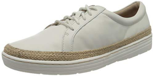 Clarks Marie Mist, Zapatos de Cordones Derby para Mujer, Blanco (White White), 41.5 EU