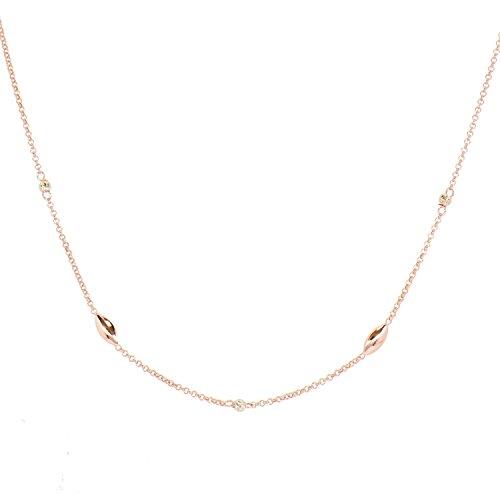 Aleksander Sternen La Barca Damen Halskette Erbskette Sterling-Silber 925 rosévergoldet 45cm