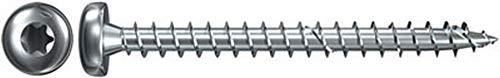 fischer Power-Fast FPF-PT 6,0 x 60 ZPF - Spanplattenschrauben mit Halbrundkopf und Vollgewinde, für Verbindungen von Metall auf Holz, blauverzinkt - 50 Stück - Art.-Nr. 652828