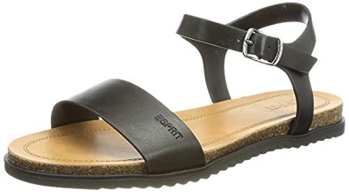 Esprit Damen 041EK1W338 Sandale, 001 BLACK, 38 EU