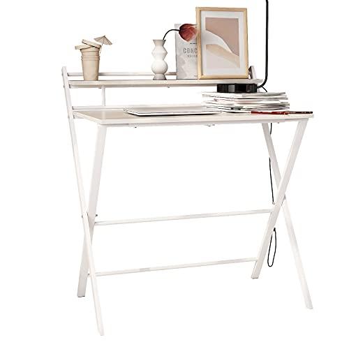 soges Mesa de Estudio de 80 x 50 cm, Mesa de Estudio, Escritorio de Oficina, Mesa de Entrenamiento, Mesa de Escritura,...