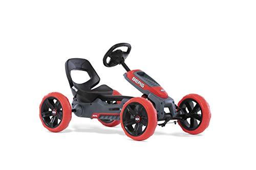BERG Pedal-Gokart, Soundbox im Lenkrad, Für Kinder von 2,5 bis 6 Jahren, Bis 30 kg, Reppy Rebel, Rot/Schwarz