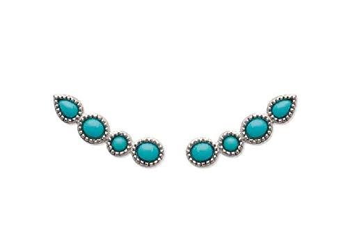 Earrings 'Blue' 925 Sterling Silver Guaranteed Nickel-Free
