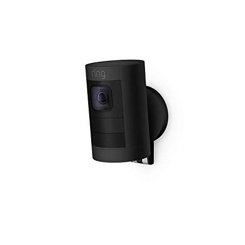 Ring Stick Up Cam Battery (2.ª generación) - Cámara de seguridad HD, comunicación bidireccional, compatible con Alexa, color negro