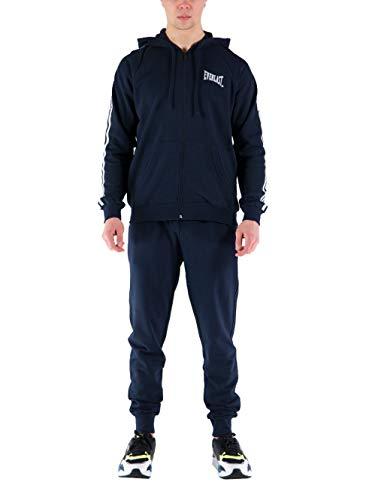Everlast Herren Trainingsanzug Sportjacke und Hose blau mit Kapuze, 30M214F08A, Blau, 30M214F08A XXL