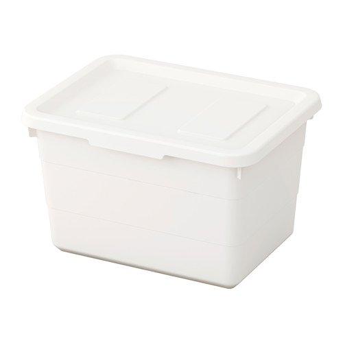 IKEA SOCKERBIT Box mit Deckel in weiß; (19x26x15cm)