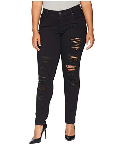 Levi's Women's Plus Size 711 Skinny Jeans, Mystery Black, 36 (US 16) M