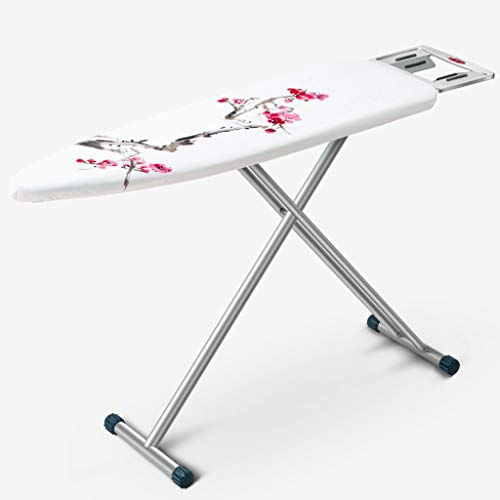 Lowest Prices! FYONG Adjust 4 Heights Ironing Board Foldable Mesh Top Colored Cover L110 × W33 × H...