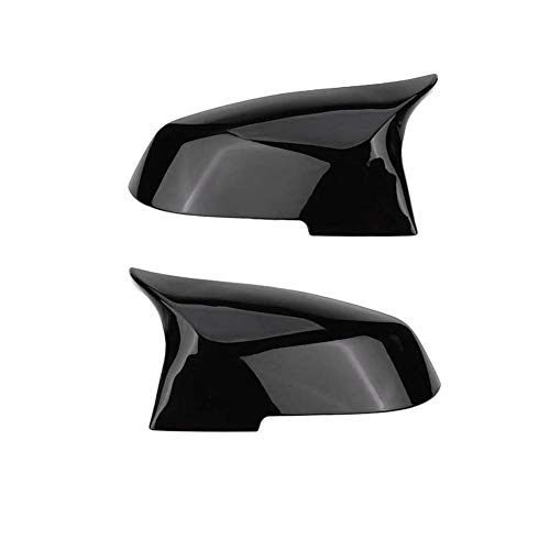 Gorgeri 1 Paar Rückspiegelabdeckkappe Spiegelabdeckung für 220i 328i 420i F20 F21 F22 F30 F32 F33 F36 X1 E84(Glänzend schwarz)