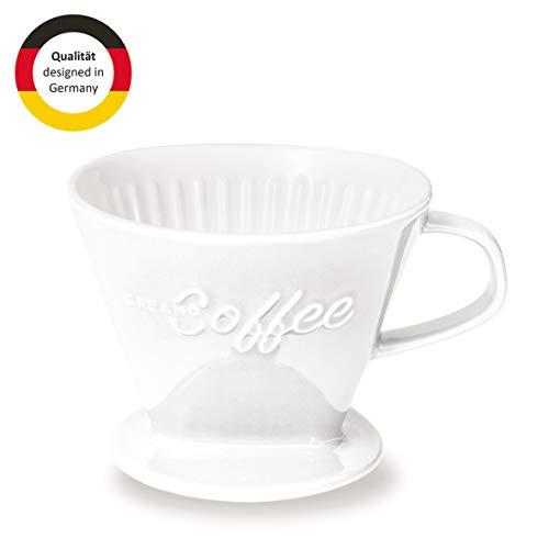 Creano Porzellan Kaffeefilter, Filter Größe 4 (Weiß) In 6 Farben erhältlich