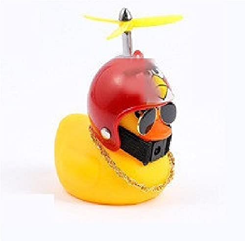 U/D Pequeño pato amarillo suministros de coche adornos creativos accesorios de coche de bambú libélula decoración del coche pato viento roto (autoadhesivo, P)