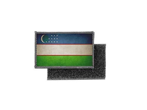 Aufnäher patch aufbügler vintage gedruckt flagge fahne usbekistan