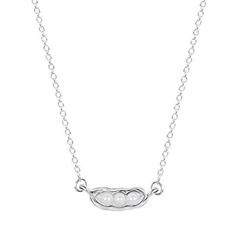 yichahu Abalorios de perlas de maní de plata, colgante de collar, pulseras de abalorios, abalorios de aleación, abalorios de perlas blancas, abalorios a granel