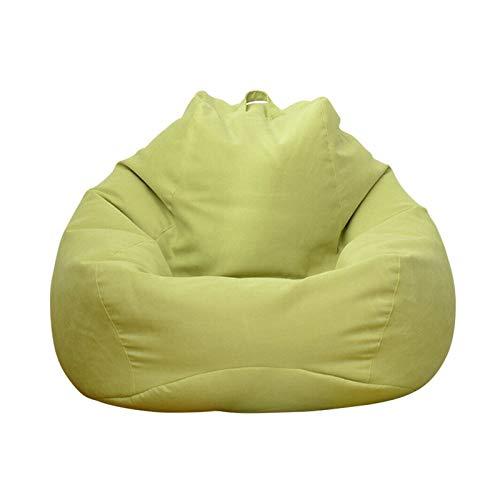 Apricot blossom Große Faule Sofas Cover Stühle ohne Füller Erwachsene Bohnenbeutel Stuhl Couch Wohnzimmer Schlafzimmer Home Tatami Liege Sitz (Color : Green70x80cm)
