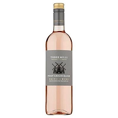 Three Mills Varietal Blush Pinot Grigio British Rose Wine 75cl Bottle