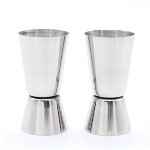 Unze Edelstahl Unze abgestufte Tasse Wasserdichte Doppelend-Bartending-Werkzeuge Waschbare gerade Messbecher