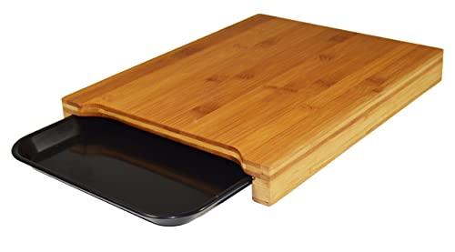 Jocca - Tabla de cortar de cocina con bandeja Resistente | Tablero Bambú Higiénico | Tablas de Cocina 36x27,5x4 | Utensilios de Cocina Originales