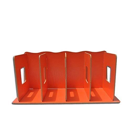MWPO Vassoio per Organizer da scrivania a scaffale Multi-Strato per archiviazione di File per Ufficio, scaffali per File legnosi Scaffali per riviste da Tavolo per Desktop, Arancione 34x16x15 cm