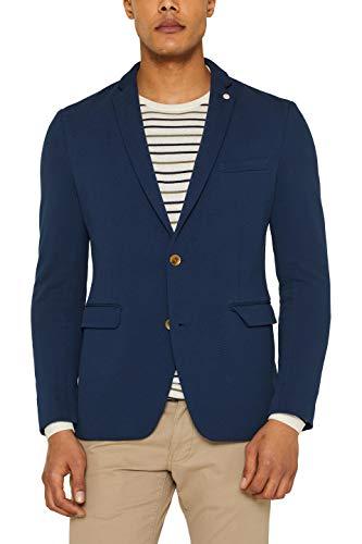 ESPRIT Herren 039EE2G006 Blazer, Blau (Dark Blue 405), (Herstellergröße: 52)
