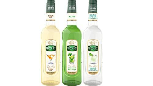 Assortiment spécial mojito sans alcool : sirop de mojito, de rhum sans alcool et de menthe crystal